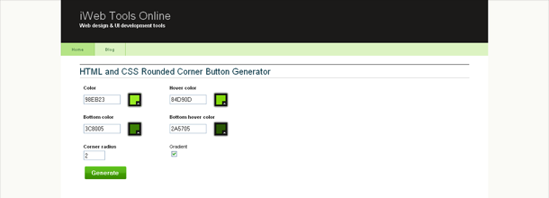 Rounded Corner Button Generator