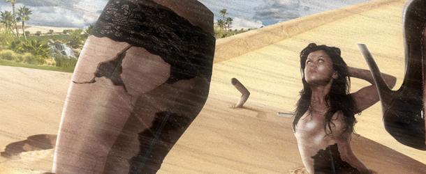 Create a Human Distinct Desert Scene